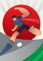 Ilustração dos jogadores de futebol da copa do mundo de Japão vetor