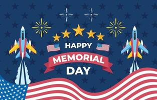 feliz dia do memorial vetor