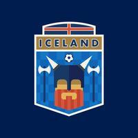 Emblemas do futebol da copa do mundo de Islândia vetor