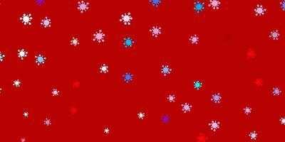 modelo de vetor azul e vermelho claro com sinais de gripe.
