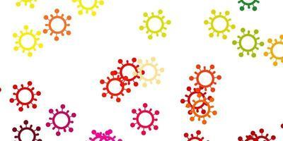 textura leve luz multicolor com símbolos de doença. vetor
