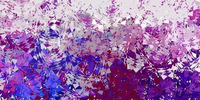 textura de vetor multicolorido escuro com triângulos aleatórios.