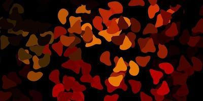 fundo vector laranja escuro com formas aleatórias.