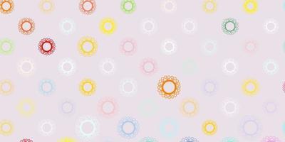 modelo de vetor multicolor de luz com sinais de gripe.