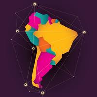 Mapa da América do Sul vetor