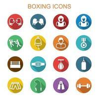 ícones de longa sombra de boxe
