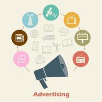 vetor de conceito de publicidade