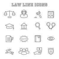 ícones da linha da lei