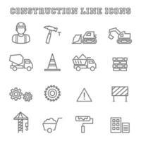ícones de linha de construção