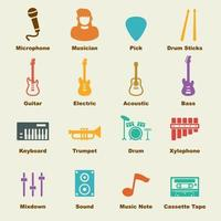 elementos do vetor de banda de música