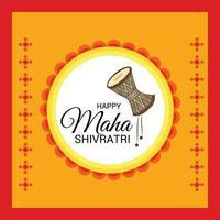 ilustração em vetor de um fundo para feliz maha shivratri.