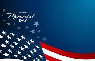 dia do memorial com bandeira americana e fundo estrela vetor