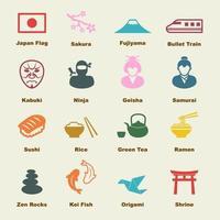 elementos vetoriais japoneses