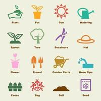 elementos do vetor de jardinagem