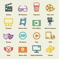 elementos do vetor de filme