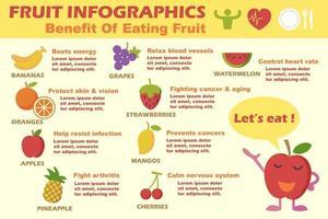infográficos de vetor de frutas