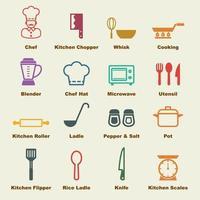 elementos do vetor de cozinha