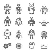 ícones de vetor de robô