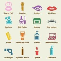 elementos cosméticos do vetor