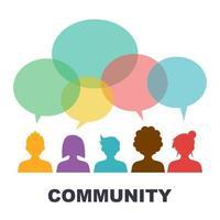 design de vetor de comunidade social