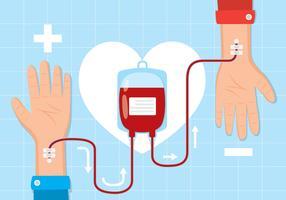 Ilustração de unidade de sangue vetor