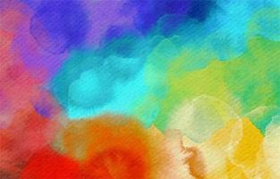 arco-íris fabuloso salpicos de fundo aquarela vetor