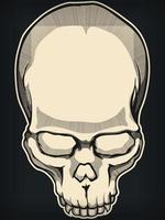 silhueta crânio humano vintage estêncil ilustração vetorial vetor