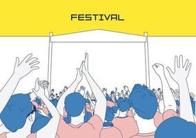 ilustração festival de verão vetor
