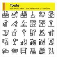 ferramentas esboço conjunto de ícones vetor