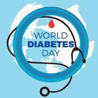 dia mundial do diabetes. ilustração vetorial vetor