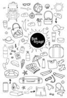 boa Viagem. coleção de ícones de viagens vetor