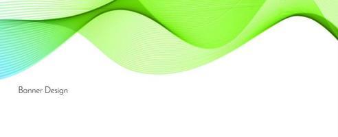 fundo de banner abstrato verde moderno onda decorativa vetor