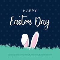 ilustração vetorial gráfico de perfeito para feliz dia de Páscoa, coelho, ovo, plano de fundo, modelo, coloridos cartões de feliz Páscoa com coelhos vetor