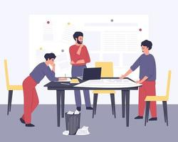 elaboração de um plano estratégico por um grupo de jovens empresários vetor
