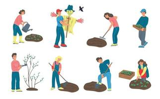 conjunto de jardinagem da fazenda