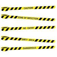 Fita amarela preta de advertência da polícia com a inscrição vetor