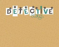 quadro de cortiça de histórias de detetive vetor