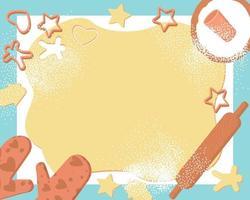massa de moldura e biscoitos, ótimo design para qualquer finalidade vetor