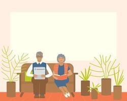 isolamento de idosos favorável à saúde durante as epidemias vetor