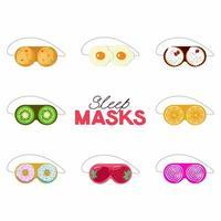máscara de dormir sobremesa de frutas em belo estilo vetor