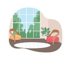 banner da web de vetor 2d do interior da casa, pôster