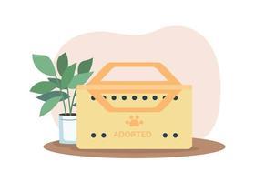 caixa para banner web de vetor 2d animal adotado, pôster