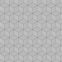 padrão de vetor de cubo. plano de fundo padrão do cubo.
