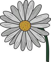 flor de margarida plana simples perfeita para projeto de design vetor