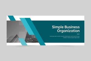 modelo de banner profissional de agência de marketing digital vetor