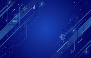 fundo abstrato de tecnologia de circuito azul vetor