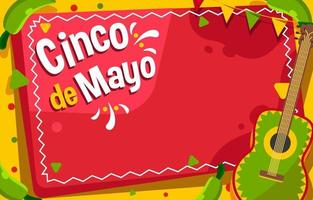 fundo divertido celebração do cinco de mayo vetor