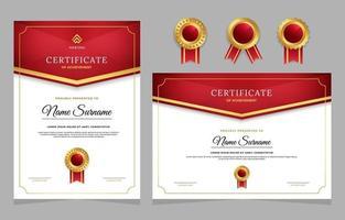 modelo de certificado de graduação vetor