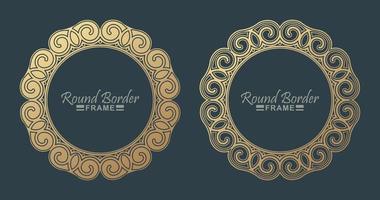 design de moldura redonda de luxo vetor