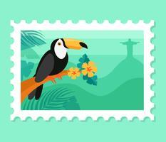 Ilustração de postagem do Brasil vetor